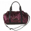 BCBG Max Azria紫色丝绒压纹时尚个性两用包