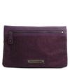 BCBG Max Azria紫色涂层帆布缀珠手包(2011年新品)