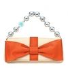 Tiffany & Co橙色蝴蝶结女士时尚宴会包